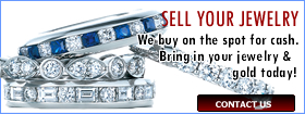 We Buy on the spot for cash. Bring in your jewelry & Gold today